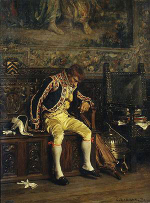 Charles-Bargue-XX-A-Footman-Sleeping-1871